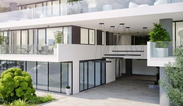 Intrare Vox Vertical Village Timișoara locuințe premium